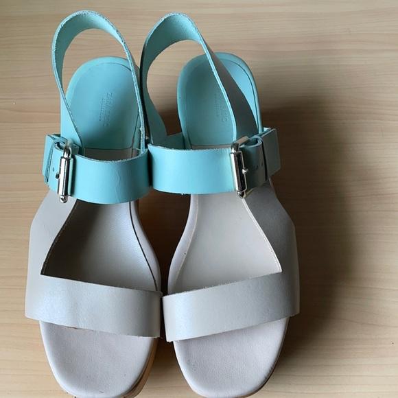 Zara platform wedges sandals size 36 used